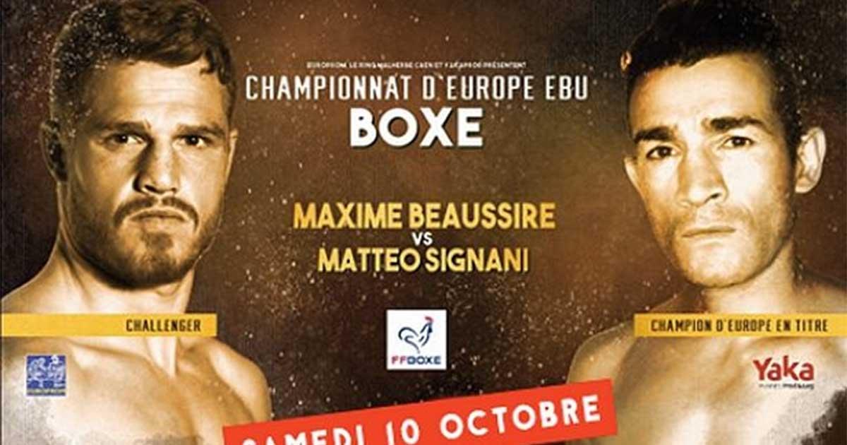Ménard Traiteur du Championnat d'Europe EBU Boxe à Caen