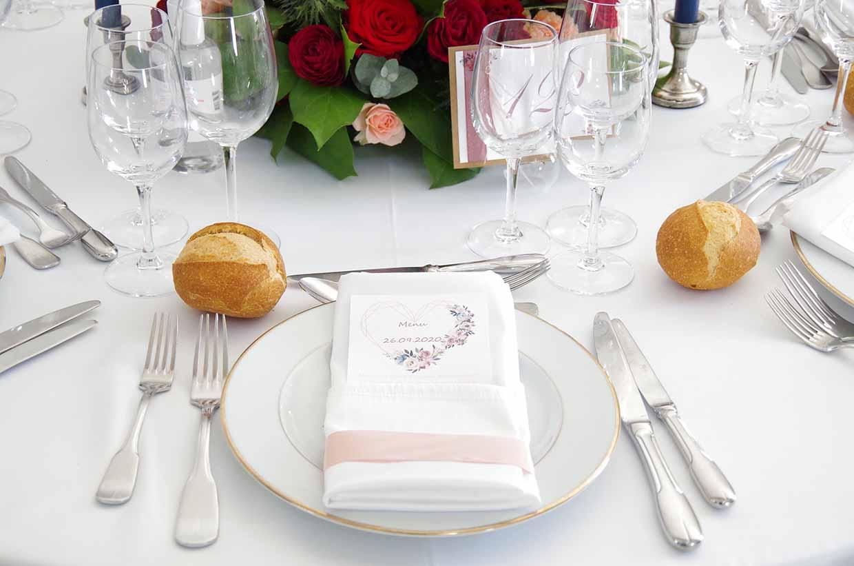 Ménard Traiteur Caen Art de la table pour un mariage